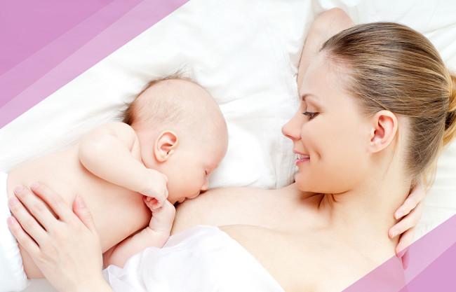 Младенец на грудном вскармливании