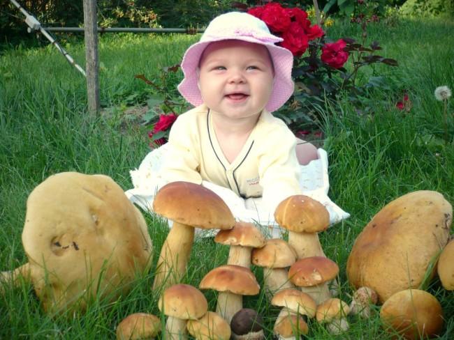 Девочка с грибами