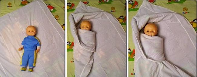 Пеленание в одеяло