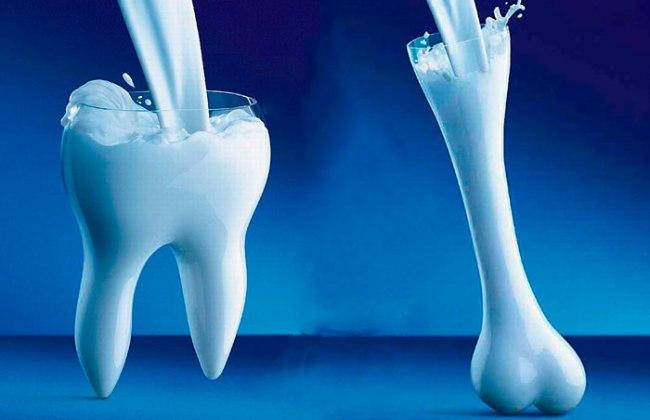 Кальций молока для костей и зубов