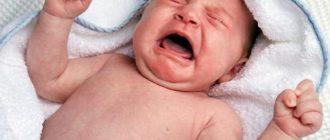 Колики у новорожденного