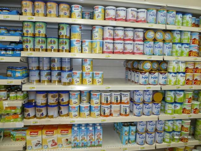 Прилавок с детским питанием
