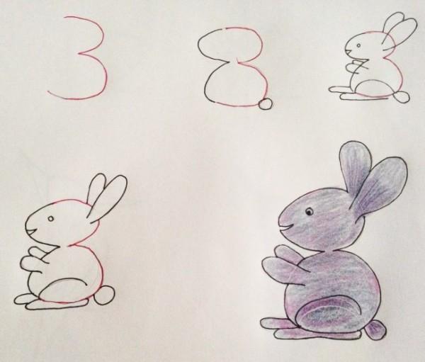 Кролик как цифра 3