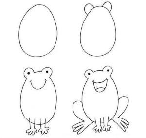 Как рисовать лягушку