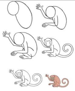 Нарисованная обезьяна