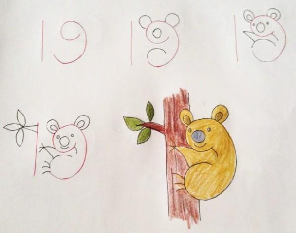 Панда похожа на число 19