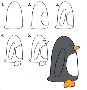 Как рисовать пингвина